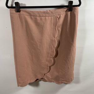ASOS | Blush Pink Scalloped Women's Skirt | Sz 8